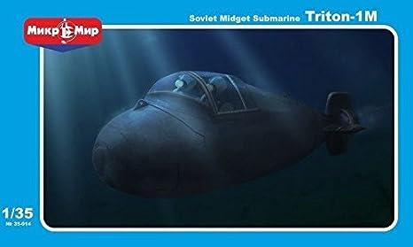 Amazon com: ***Triton 1-M Soviet Midget Submarine , 1/35