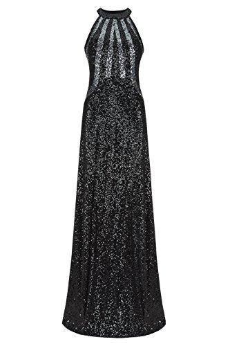 schwarz Lange spielen Dynasty Damen Schal gunmetal 1012721 Stil Black Kleid ohne Gunmetal xF17SqFw