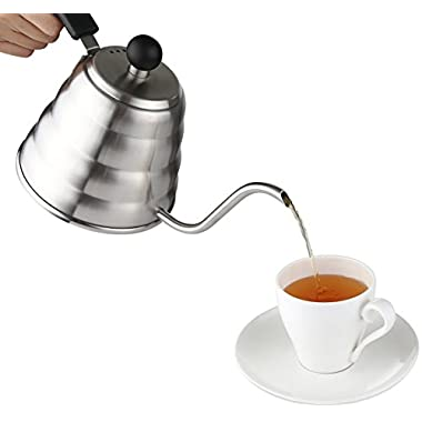 Aicok Pour Over Kettle Stainless Steel Coffee & Tea Stovetop Drip Kettle Gooseneck Kettle 1.2 L
