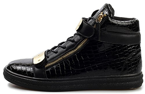 Sneakers In Jiye Mens In Metallo Con Cerniera Alta Moda Sneakers Nere
