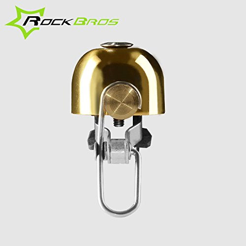 ROCKBROS Vintage Bicycle Bell Stainless Bell Bike Cycling Horns Handlebar Bell ( Black ) by Freelance Shop SportingGoods (Image #4)