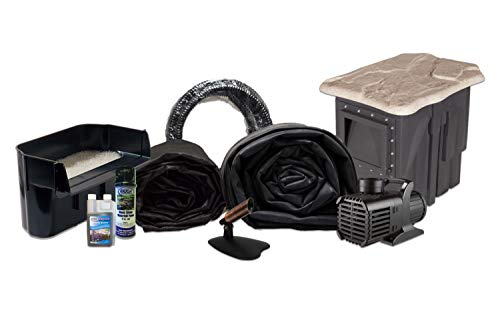 - Hybrid EPDM Pond Kit w/ 15' x 20' LifeGuard Pond Liner, 3,000 GPH Pump, Savio FilterWeir 16