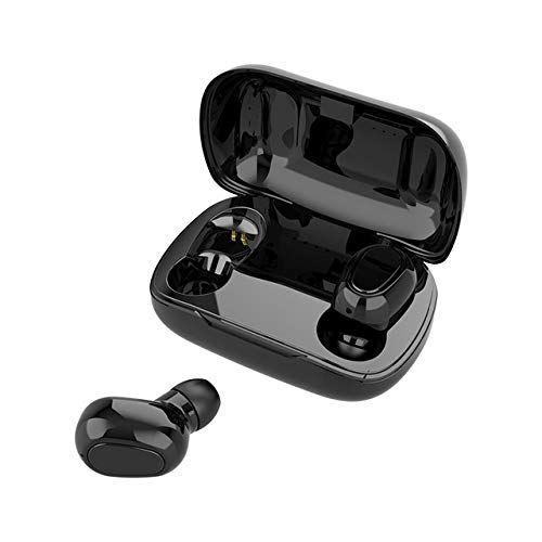 OUYAWEI L21 TWS Wireless Earphones Bluetooth 5.0 Headphones Mini Stereo Earbuds Sport Headset Bass Sound Built-in Micphone Black