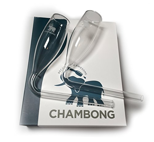 Chambong (2-pack) - Glassware for rapid Champagne consumption.