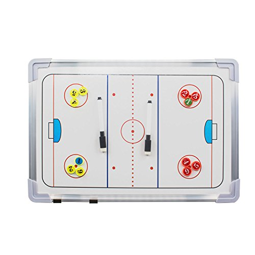 (Wrzbest Ice Hockey Tactics Whiteboard Double-sided Coaches' Coaching Board Training Assistant Tool)