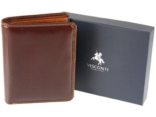 Visconti Da Uomo Torino Collezione Conciata Con Vegetali Autentico Portafoglio Di Lusso In Pelle - TR34 (Marrone/Marroncino)