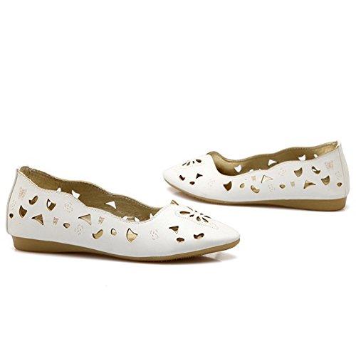 Shoes Slip Comfortable Cut Flat On Out Women Shoes White Pumps TAOFFEN wX7qZZ