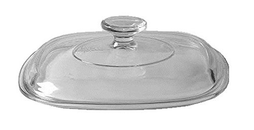 Clear Square Glass Lid ( Clear ) ( 8