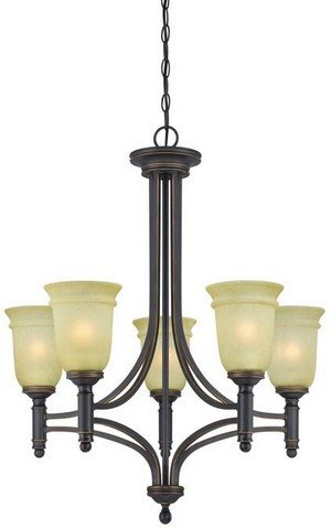 Westinghouse Lighting 6342900 Montrose Five-Light Indoor Chandelier, Oil Rubbed Bronze Finish with Highlights with Mocha Scavo -