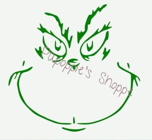 OutletBestSelling Stencil The Grinch Face クリスマスステンシル 10インチ x 10インチ B07HFDYWDC