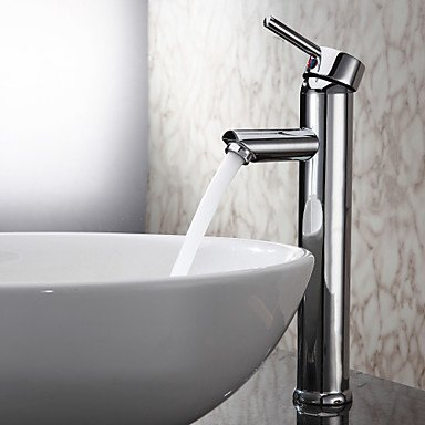Bathroom faucet-YAMEIJIA Lightinthrbox Sprinkle® Sink Faucets - Contemporary Chrome Centerset One Hole