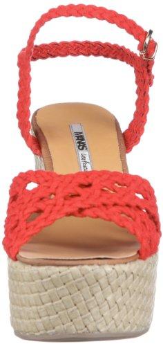 Manas panarea 121L6108CM - Sandalias de vestir de ante para mujer Rojo