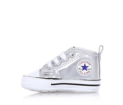 zapatillas Converse alta cuna 855122C CTAS primera estrella HI Argento