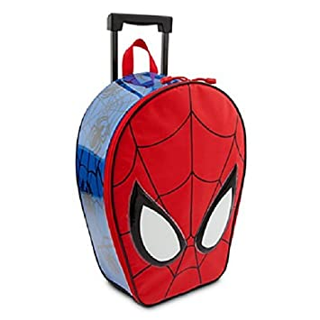 Amazon.com: Marvel Spiderman Children Rolling Luggage Bag - By ...