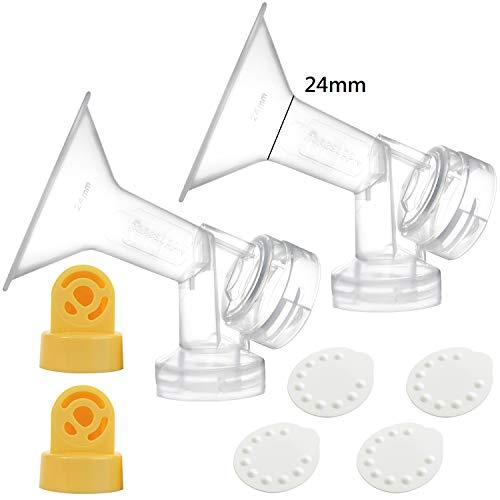 Nenesupply Compatible Pump Parts for Medela Breastpumps 24mm Breastshield Valve Membrane for Medela Pump in Style Medela Symphony Not Original Medela Pump Parts Not Original Medela Breastshield ()