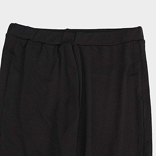 Nero A Tendenza Cavo Pantaloni Perline Matita Skinny Estivi Trousers Jeans Pureed Donna Elegante Fitchic Lunga Slim Treggins a5w1PqWH