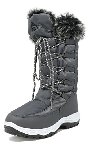 arctiv8 Women's Maine Grey Knee High Winter Snow Boots Size 12 M US