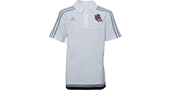 adidas RS Y - Polo Real Sociedad 2015/2016 para niño, Color Blanco ...