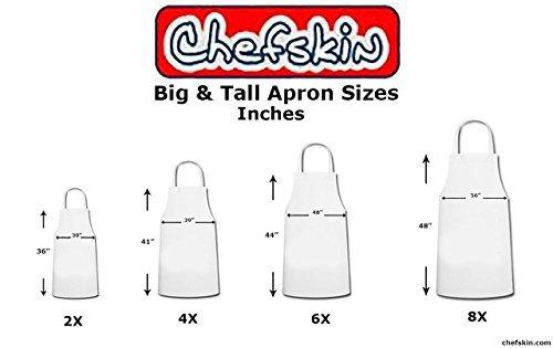 Chefskin 8X Jet Black Adult Chef Set (Apron+hat) Adjustable, Ultra Lite Fabric XXXXXXXXL