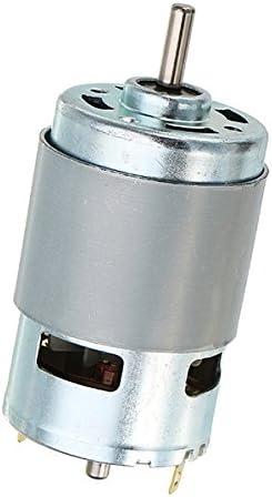 Tiamu Motor 775 con Soporte de Montaje Dc 12V 10000 Rpm Rodamientos de Bolas Dobles de Motor 150W