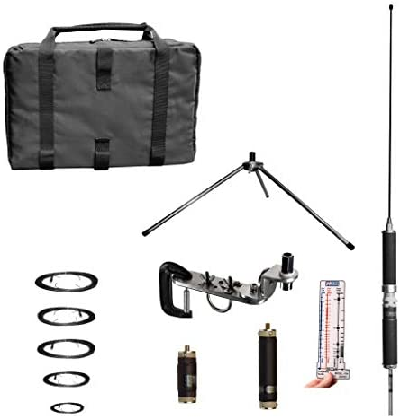 Super antena mp1dxmax Dual HF Plus 2 Meter Bandas superwhip trípode todos banda antena con la abrazadera del soporte y bolsa de Go Ham Radio amateur