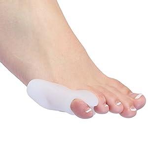 Gel Bunion Corrector Toe Protectors Straightener Separators Toe Spreader (2 Pair (Four) Little Toe Protectors) 8