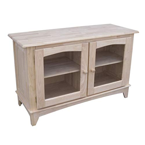 International Concepts TV Stand with Glass Doors