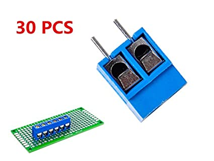 Stackable Screw Terminal Block PCB Mount 2-Pin 5 mm Pitch