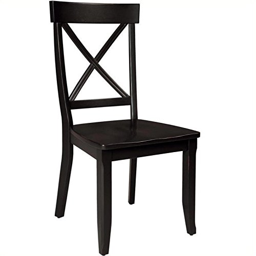 Home Styles 5178-802 Dining Chairs, Black Finish, Set of 2 by Home Styles