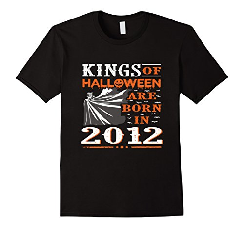 Mens Kings Of Halloween Are Born In 2012 Tee 5th Birthday Shirt Small Black