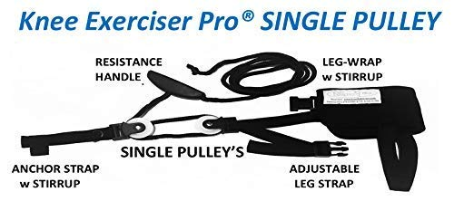 Knee Exerciser Pro-Single Pulley: Knee Replacement Therapy - Knee Replacement - Range of Motion Aide.