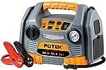 POTEK Jump Starter Source with 150 PSI Tire Inflator/Air Compressor,900 Peak