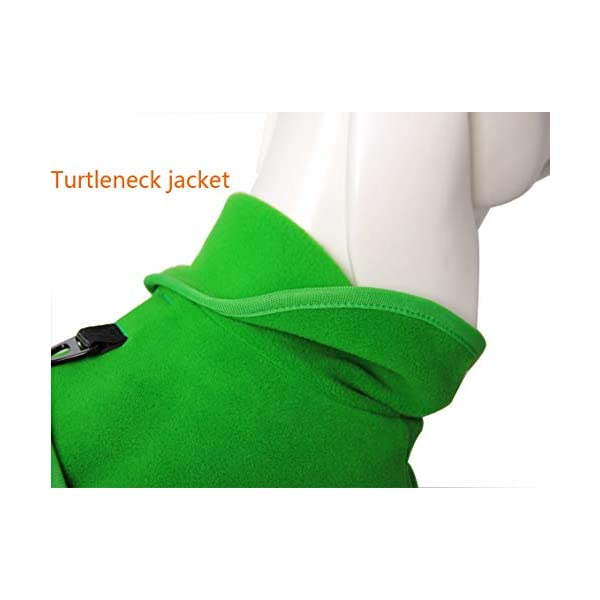 QBLEEV Small Dog Fleece Jackets Cold Weather Coats Warm Turtleneck Doggie Sweaters Vest Harness Clothes Puppy Clothes… Click on image for further info. 4