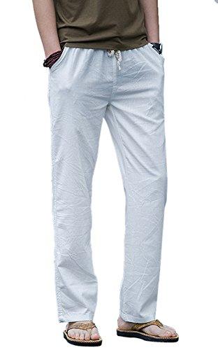 Washed Linen / Cotton Pants - 7