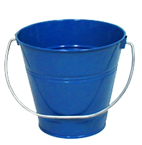 5 Qt Metal Bucket - 6 pack Metal Bucket, Royal Blue Metal Bucket 5