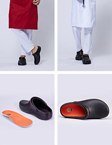 86df9aa2ce5d SensFoot Slip Resistant Work Clogs Unisex Black Non Slip Chef Shoes for  Restaurant  Amazon.ca  Shoes   Handbags