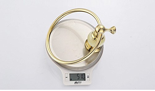 ETmla Copper round luxury marble gold towel ring bathroom towel hanging bracket by ETmla (Image #4)