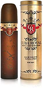 Cuba Eau de Toilette Spray for Men, Royal, 100ml