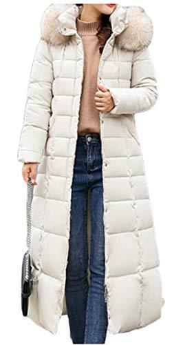 Faux Coat Coat Trim Jacket Warm Puffer Hood Fur Down 1 Thicken Parka TTYLLMAO Women's qI7X6H7
