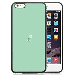 Beautiful Unique Designed iPhone 6 Plus 5.5 Inch Phone Case With Simple Coffee Mug Flat Illustration_Black Phone Case