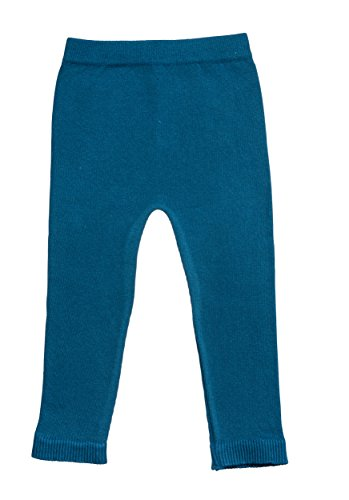 Silky Toes Infant, Baby, Toddler Knit Leggings, Cotton Pants for Girls and Boys, (Teal, 18-24M) -