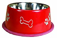 OmniPet Jumbo Non Tip Dog Bowl, 32 oz., Red