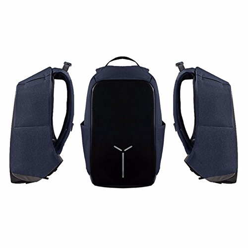 Bene Vogue Anti-Theft Travel Business Lightweight Durable Backpack Fits 15.6 Inch Laptop Book School Bag Water Resistant with USB Charging Port for College Sutdent Work Men & Women (Navy) by Bene Vogue