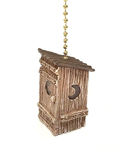 Designs Outhouse (Outhouse Ceiling Fan Pull Decorative Ornament)
