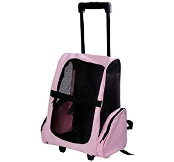 Amazon.com : Pawhut Deluxe Pet / Dog Travel Carrier Backpack w ...