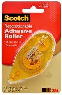 Double-sided Scotch Tape Repositionable Runner 055-RPS-CFT Photo Safe .31 in x 16.3 ft