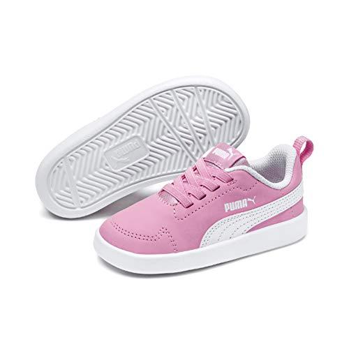 cheap for discount 99b27 f1976 Da Unisex puma Rosa Scarpe White Basse Pink Bambini Inf Ginnastica  Courtflex Puma pale xYOtww