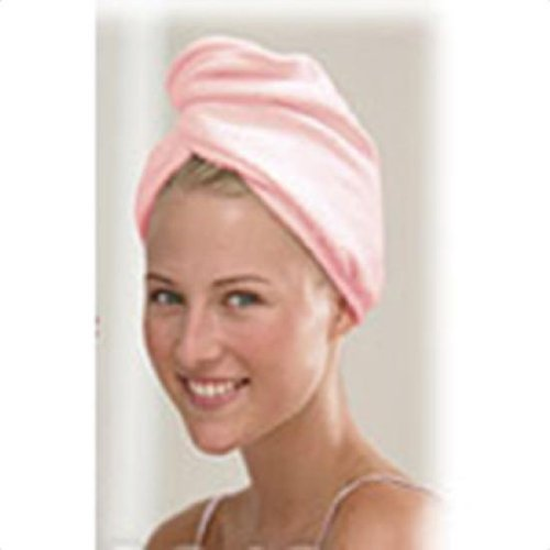 Ultra Absorbent Quick Dry Hair Turban Pink 1 Count ()