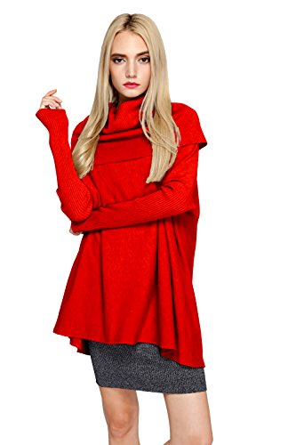 Womens Long Sleeve Turtleneck Sweater - 2