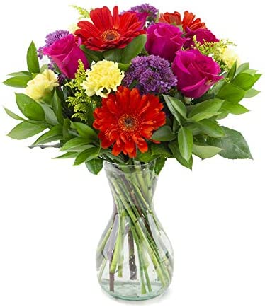 Delivery by Monday, May 10th Everlasting Fling with a Free Glass Vase by Arabella Bouquets